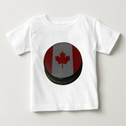 Canadian Hockey Puck Baby T_Shirt