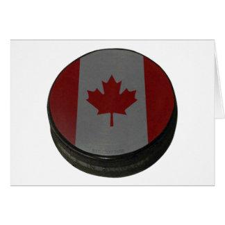 Canadian Hockey Puck Card