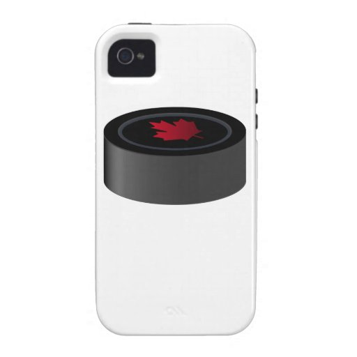Canadian Hockey Puck iPhone 4 Cover