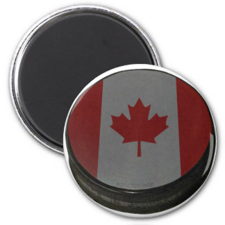Canadian Hockey Puck Magnet