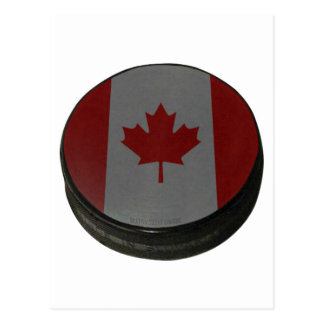 Canadian Hockey Puck Postcard