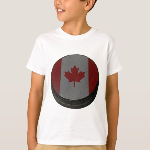 Canadian Hockey Puck T_Shirt