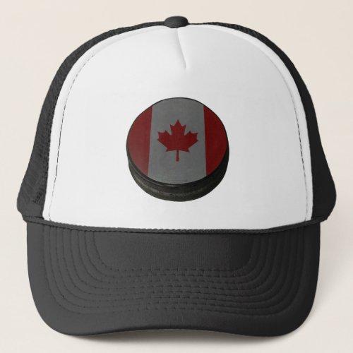 Canadian Hockey Puck Trucker Hat