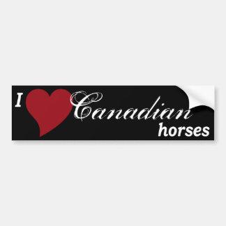 Canadian horses bumper sticker
