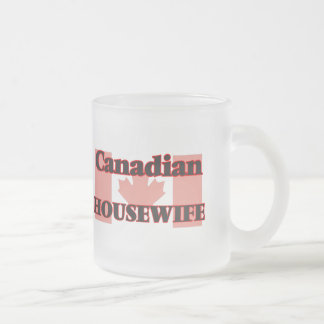 Canadian Housewife 10 Oz Frosted Glass Coffee Mug