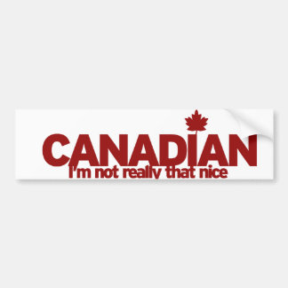 Canadian Humour Bumper Sticker