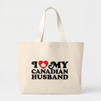 Canadian Husband Tote Bags