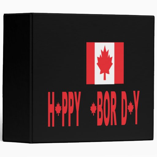 Canadian Labor Day 3 Ring Binder