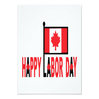 Canadian Labor Day Card