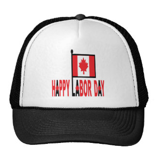 Canadian Labor Day Trucker Hat