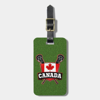 Canadian Lacrosse Luggage Tag Template