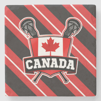 Canadian Lacrosse Stone Coaster
