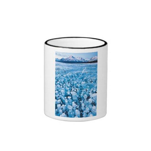Canadian Lake Full of Frozen Bubbles Coffee Mugs
