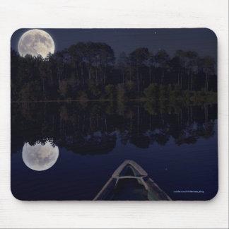 Canadian Lake Super Moon Photo Late at Night Mouse Pad