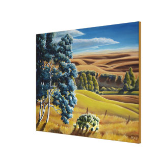 Canadian Landscape Foothills Painting Print Canvas