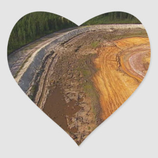 Canadian Landscape of the closed mining areas 99 Heart Sticker