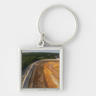 Canadian Landscape of the closed mining areas 99 Silver-Colored Square Keychain