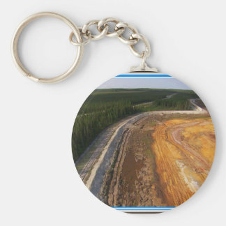 Canadian Landscape of the closed mining areas 99 Basic Round Button Keychain