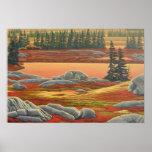 Canadian Landscape Painting Bear Art Print