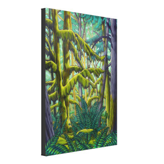 Canadian Landscape Painting Print W. Coast Forest