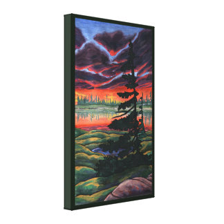 Canadian Landscape Painting Sunset Canvas Small
