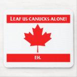 Canadian Leaf Design Mouse Pad
