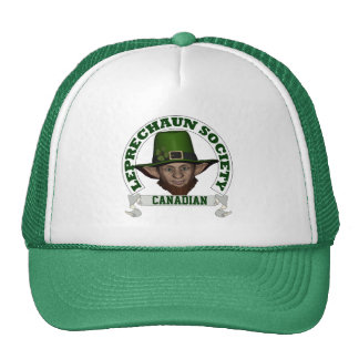 Canadian leprechaun society  St Patrick's day Trucker Hat