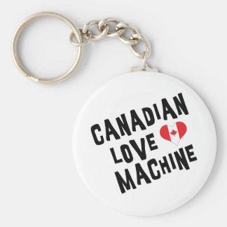 Canadian Love Machine Basic Round Button Keychain