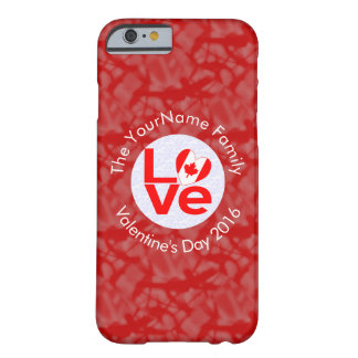 Canadian Love Red Background White Circle Barely There iPhone 6 Case