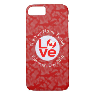 Canadian Love Red Background White Circle iPhone 8/7 Case