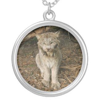Canadian Lynx 0173 Round Pendant Necklace