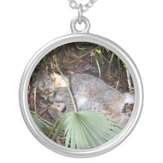 Canadian Lynx 0331e Round Pendant Necklace