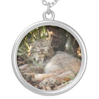 Canadian Lynx 0339e Round Pendant Necklace