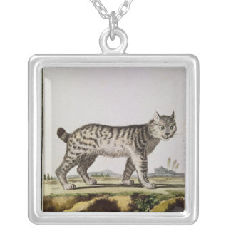 Canadian Lynx Square Pendant Necklace