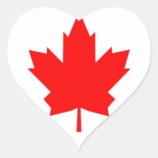 Canadian Maple Heart Sticker