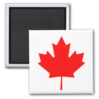 Canadian Maple Leaf 2 Inch Square Magnet