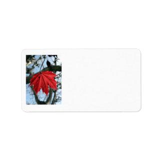 Canadian Maple Leaf Address Labels
