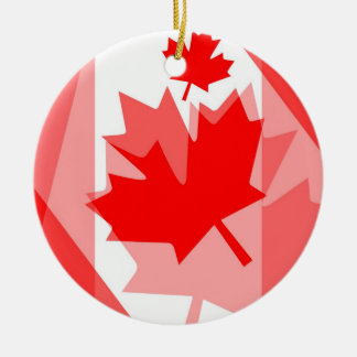 Canadian Maple Leaf all over Style CANADA Ceramic Ornament