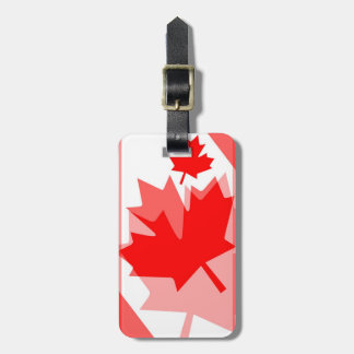 Canadian Maple Leaf all over Style CANADA Luggage Tag