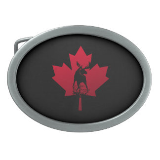 Canadian Maple Leaf and Moose Belt Buckle