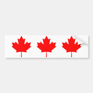 Canadian Maple Leaf Bumper Sticker