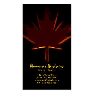 canadian maple leaf business card
