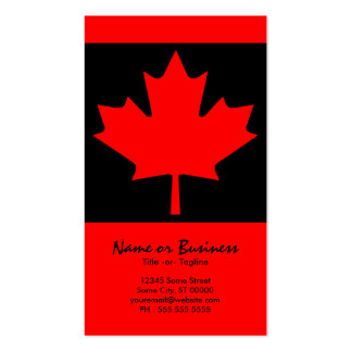 canadian maple leaf business cards