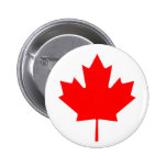 Canadian Maple Leaf Buttons