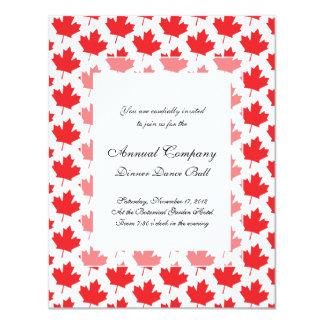 Canadian Maple Leaf Canada Day National Symbol 4.25x5.5 Paper Invitation Card