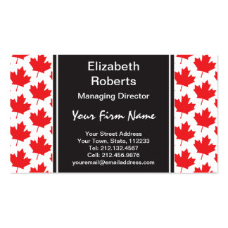 Canadian Maple Leaf Canada Day National Symbol Business Card Templates