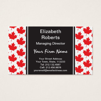 Canadian Maple Leaf Canada Day National Symbol Business Card