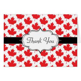 Canadian Maple Leaf Canada Day National Symbol Card