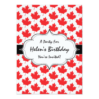 Canadian Maple Leaf Canada Day National Symbol Card