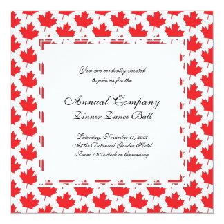 Canadian Maple Leaf Canada Day National Symbol Invitation